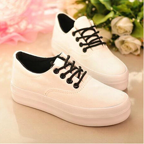 Canvas shoes for women shoes zapatos mujer 2016 hot fashion women casual shoes platform shoes