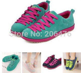 2015 New Women Sneakers Fashion Canvas Woman Shoes Tenis Lace Up Leisure Espadrilles Flats Sapatilhas Femininos Size35-40