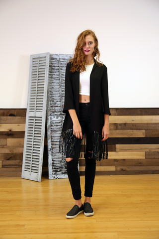 THE SHANNON SWING FRINGE SWEATER