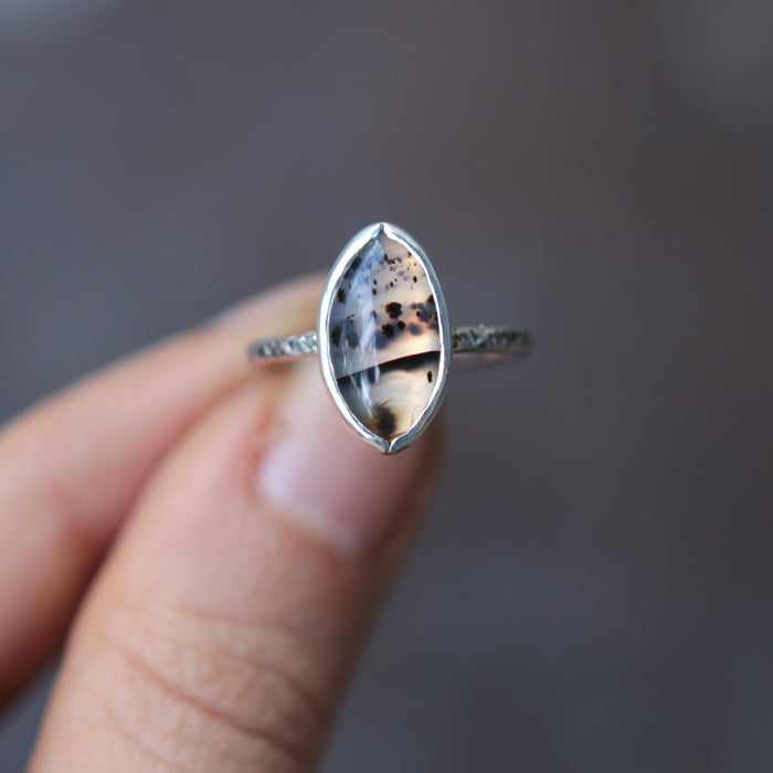 OOAK Montana Agate Relic Ring - Size 5.75