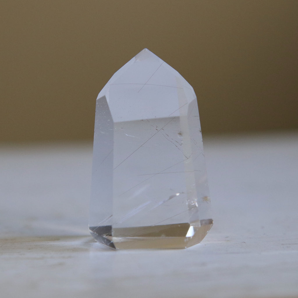 Medium Geometric Quartz Crystal Point