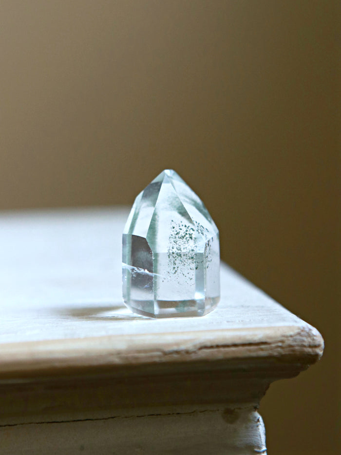 Green Mist Quartz Crystal Point