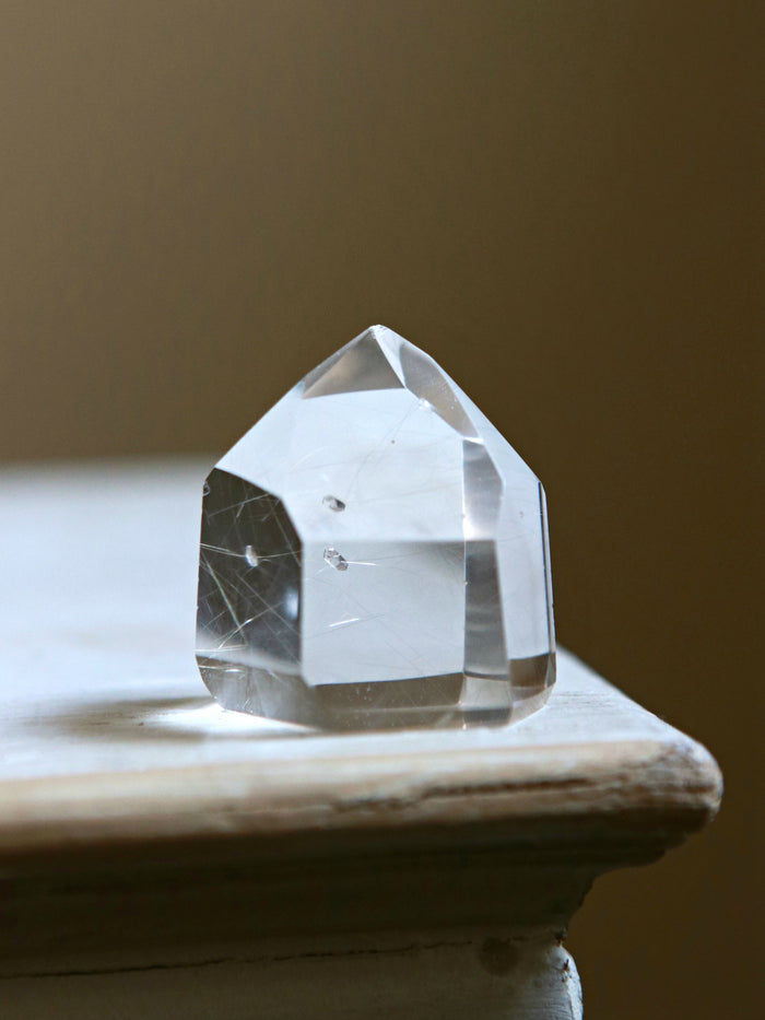 Floating Double Terminated Quartz Crystal Point
