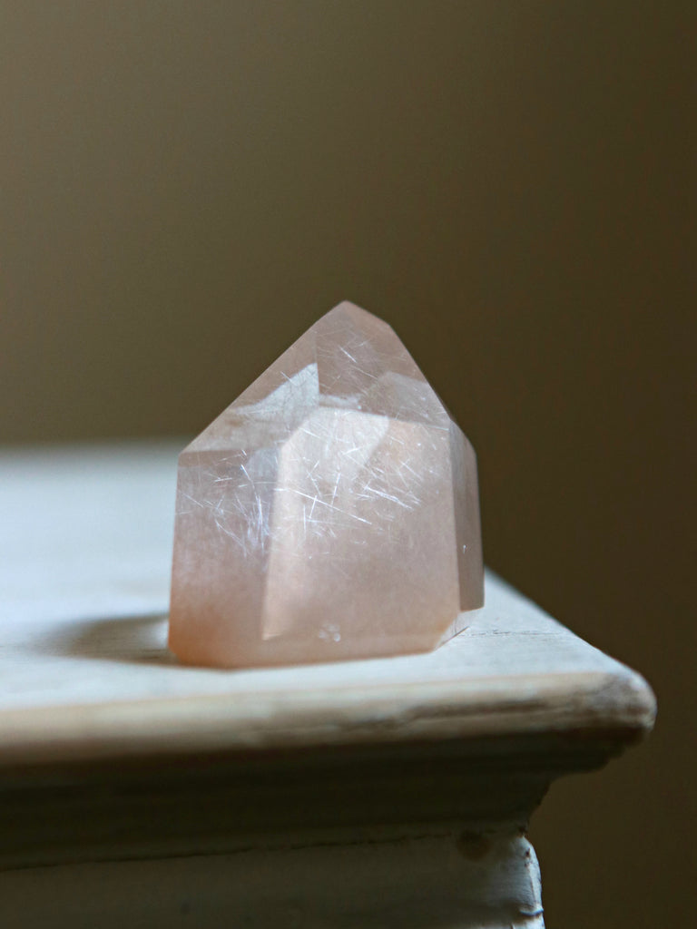 Sakura Blossom Pink Quartz Crystal Point