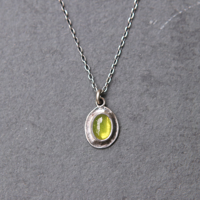 Vesuvianite Petal Pendant - *Limited*