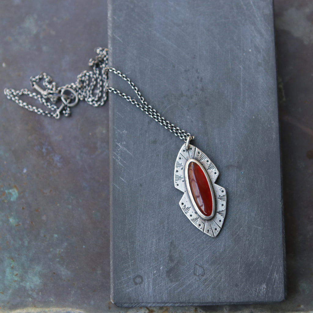 Rogue River Necklace in Carnelian