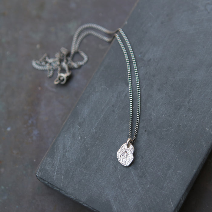 Moon Rock Charm Necklace