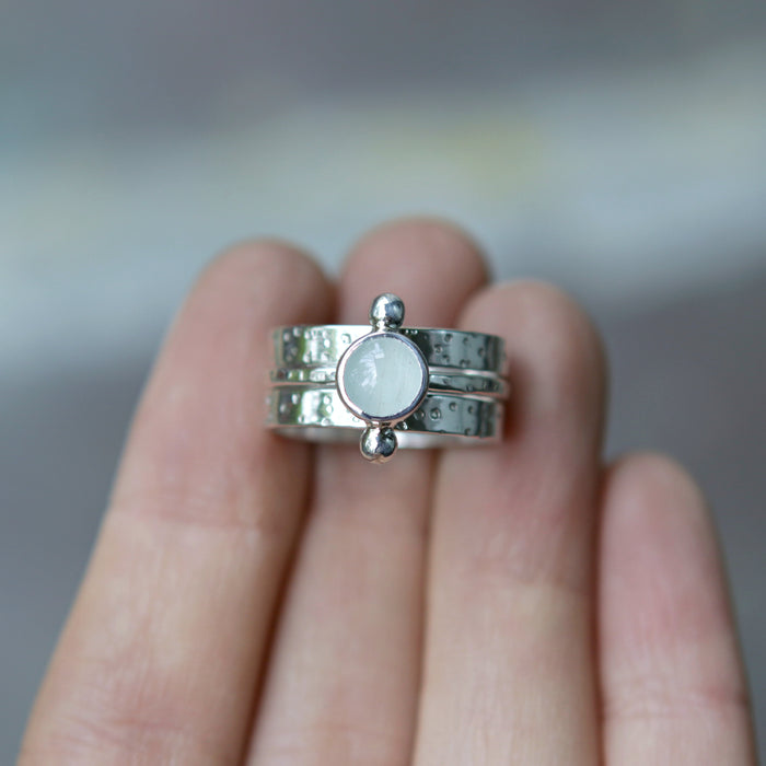 Aquamarine Polar Galaxy Ring Set