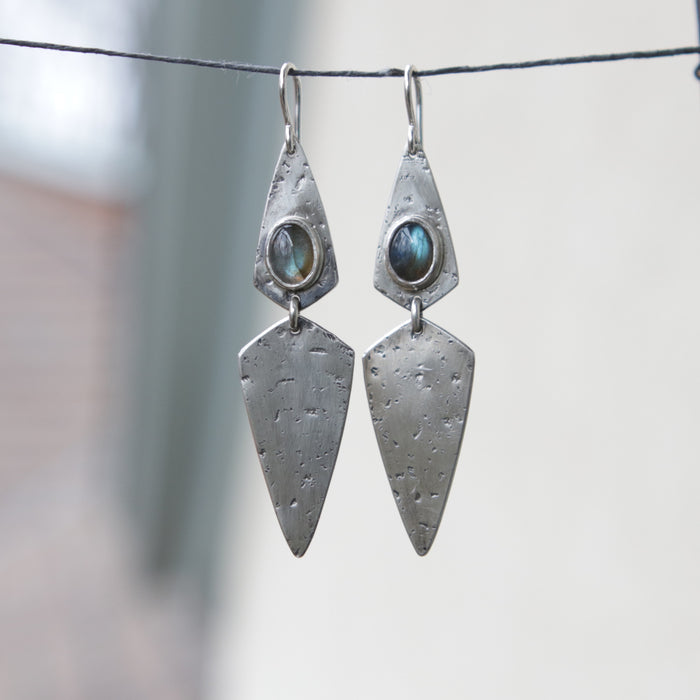 Labradorite Double Dagger Earrings *Limited - One Pair*