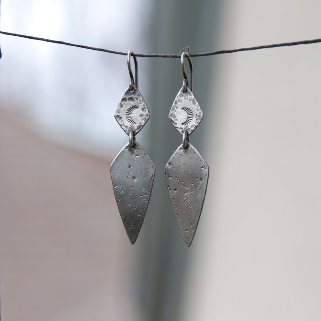 Moon Dagger Earrings *One Pair Left*