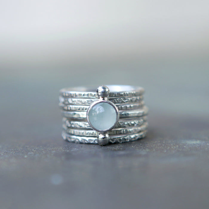 Aquamarine Polar Alternations Ring Set (Spring/Summer)