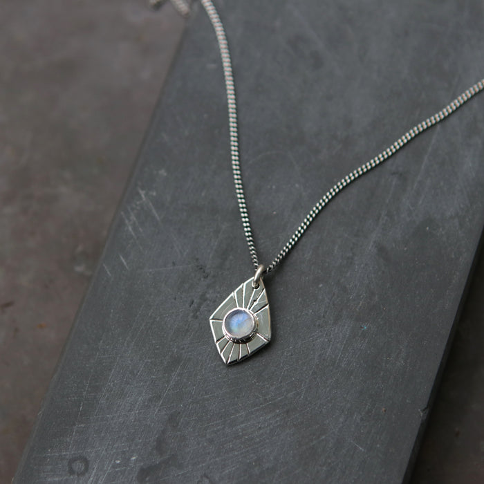 Moonstone Radial Spade Necklace *Limited - One Left*