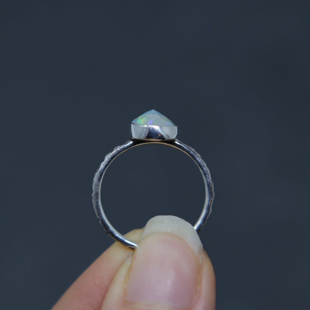 Opal Rose Relic Ring - Size 7 OOAK