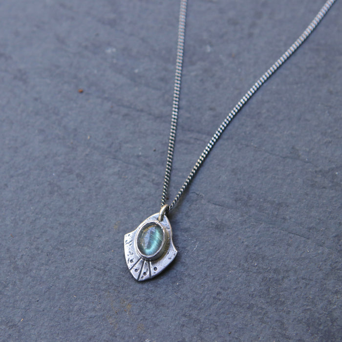 Labradorite Mini Rogue Shield Necklace - *Limited*