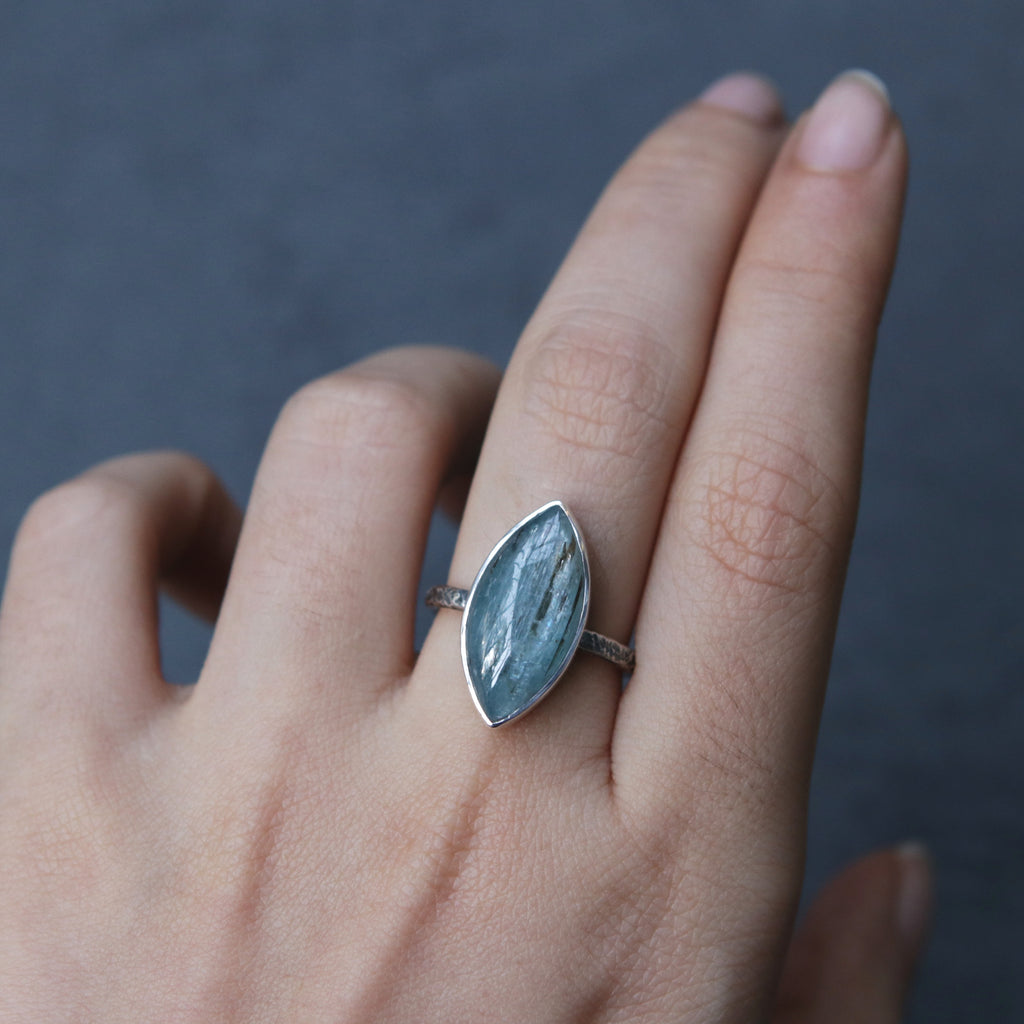 Kyanite Marquise Relic Ring - Size 7