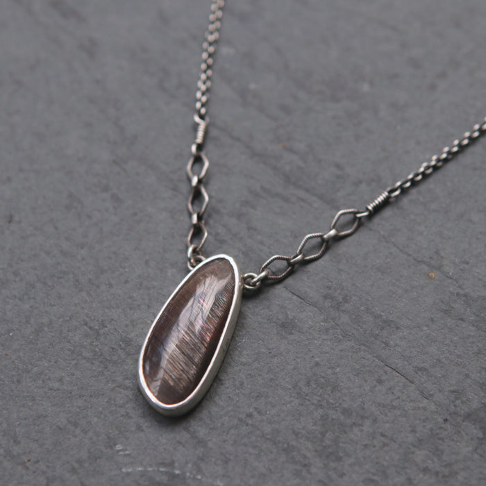 OOAK Petite Sunstone + Moonstone Spiritus Necklace