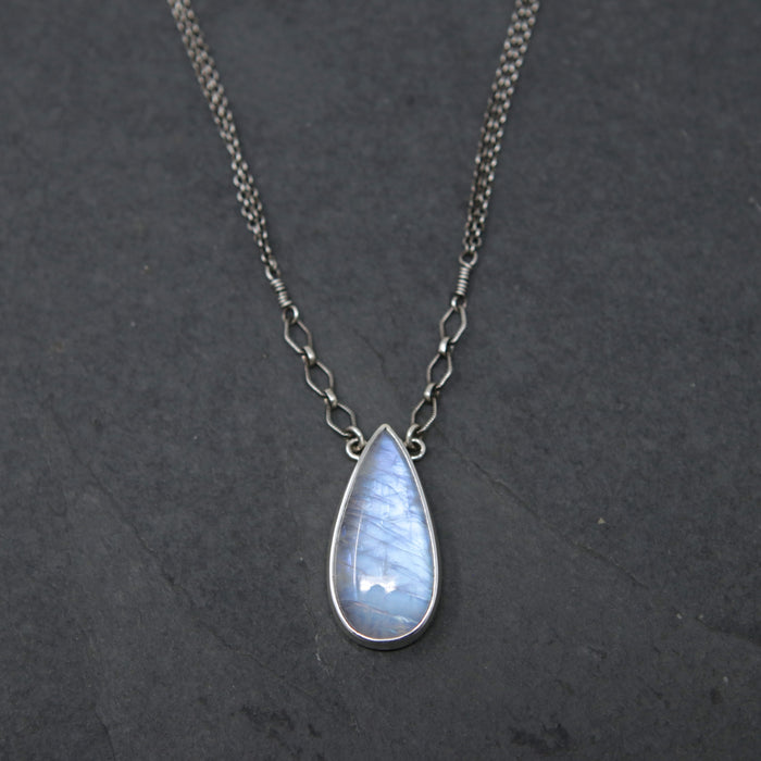 OOAK Teardrop Moonstone Spiritus Necklace