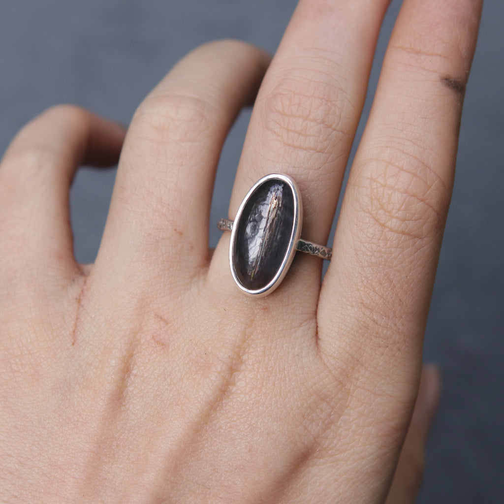 OOAK Sunstone + Moonstone Relic Ring - Size 6.5