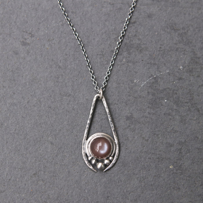 Chocolate Moonstone Artemis Necklace *One Remains*