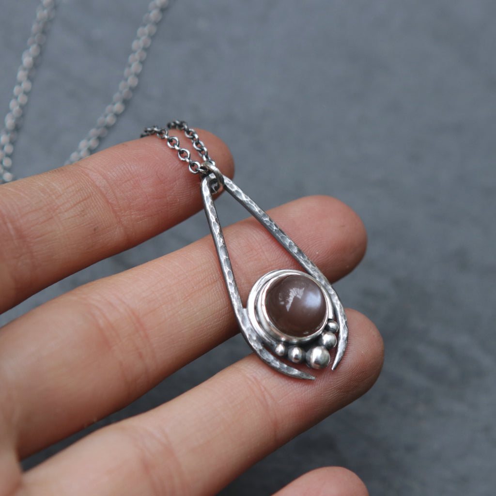 Chocolate Moonstone Artemis Necklace *Limited - Last One*