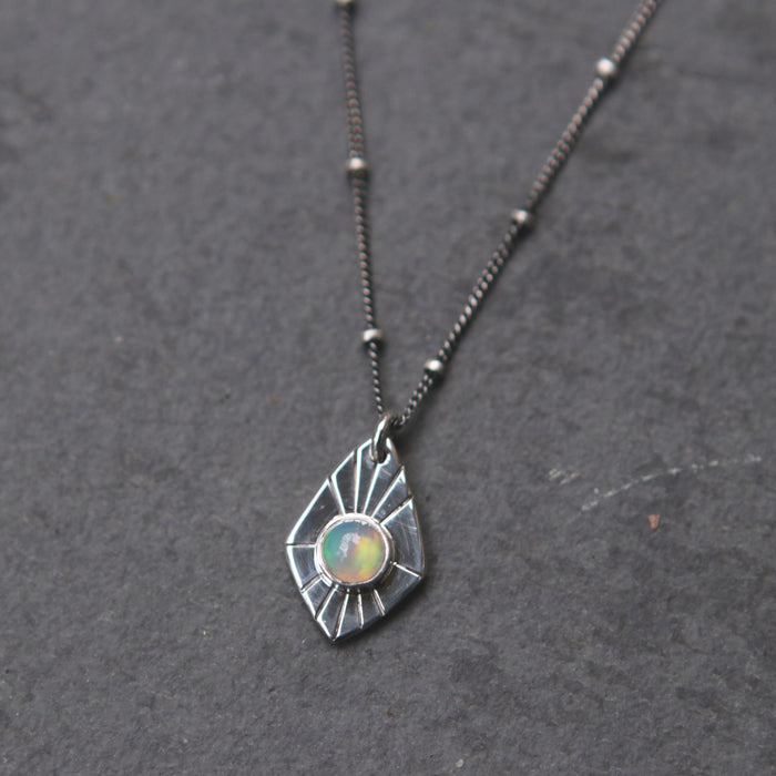 Opal Radial Spade Necklace *Limited*