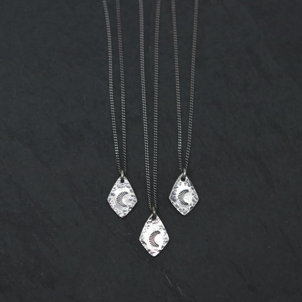 Radiant Moon Spade Charm Necklace