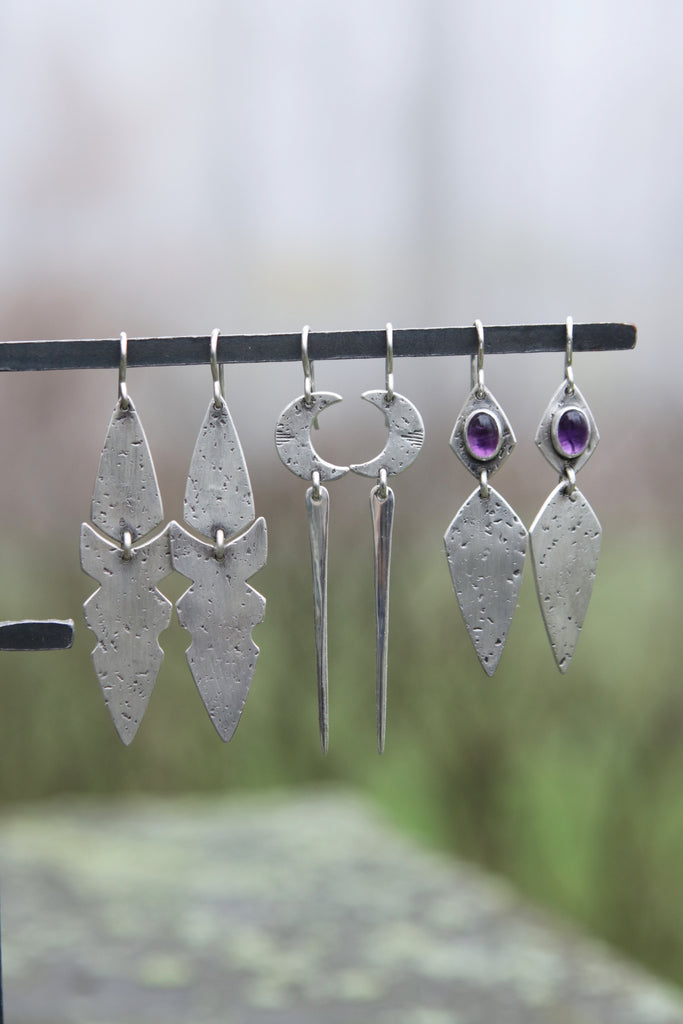 Moon Spear Earrings *Last Pair*