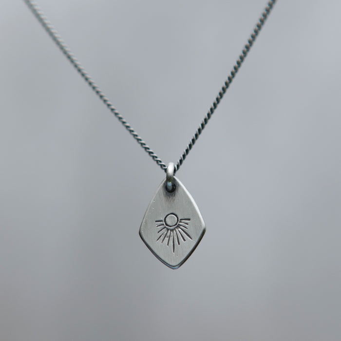 Shooting Star Spade Charm Necklace