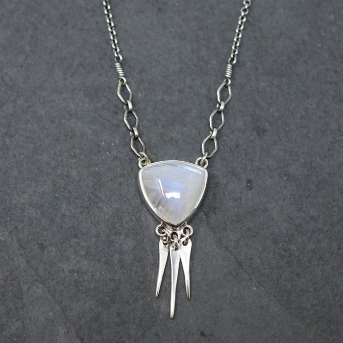 Moonstone Spiritus Fringe Necklace *One Available*
