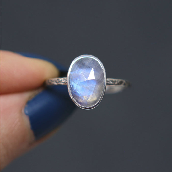 Moonstone Relic Ring - Size 7.5 OOAK