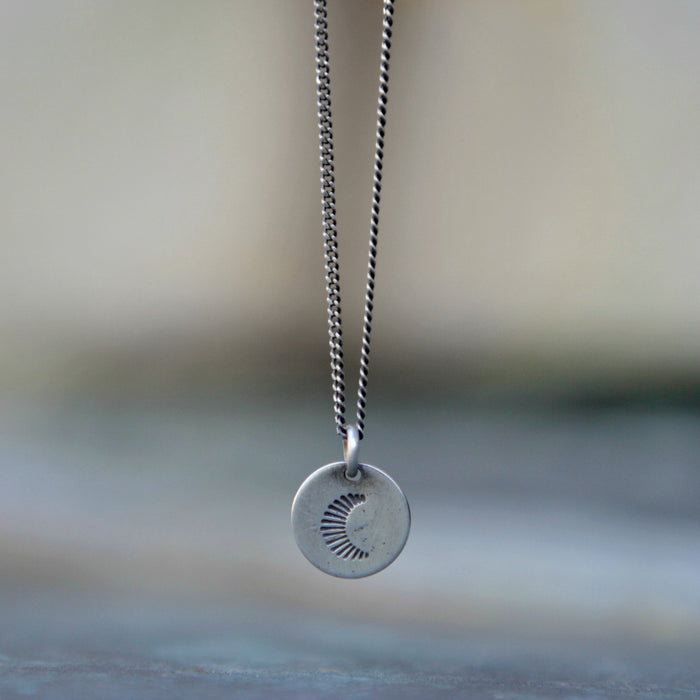 Radiant Moon Charm Necklace