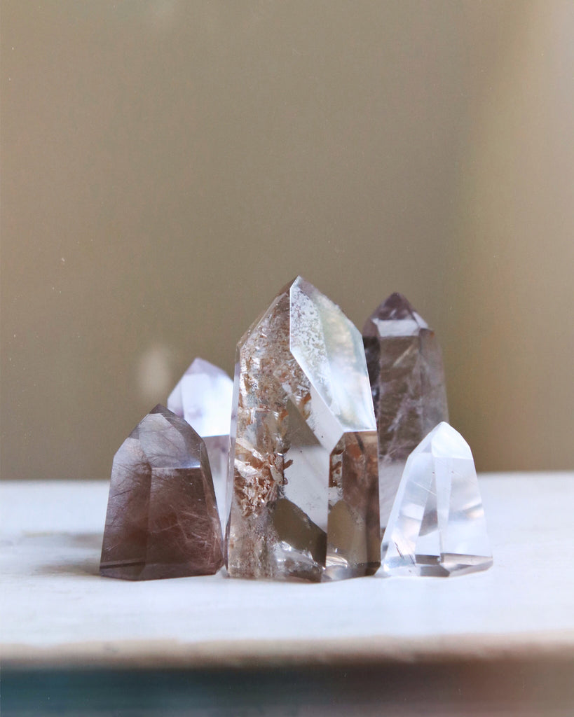 City of Gold Quartz Crystal Point