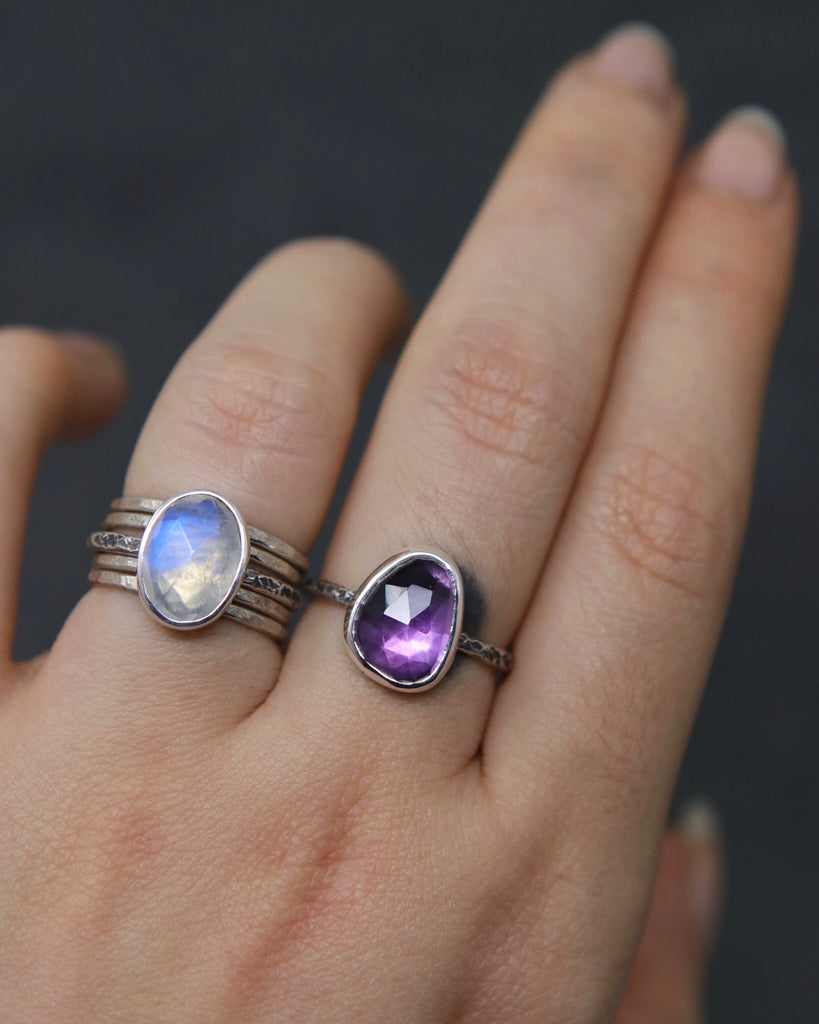 Amethyst Relic Ring - Size 6.5 OOAK
