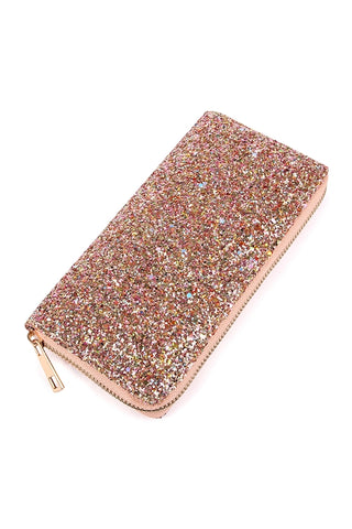 Bling Bling Glitter Wallet Clutch, ACCESSORIES, WFS, Pink Maisy- PinkMaisy Premium Women Clothing Boutique