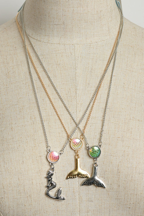 Mermaids and Fins Druzy Drop Necklace, ACCESSORIES, WFS, Pink Maisy- PinkMaisy Premium Women Clothing Boutique