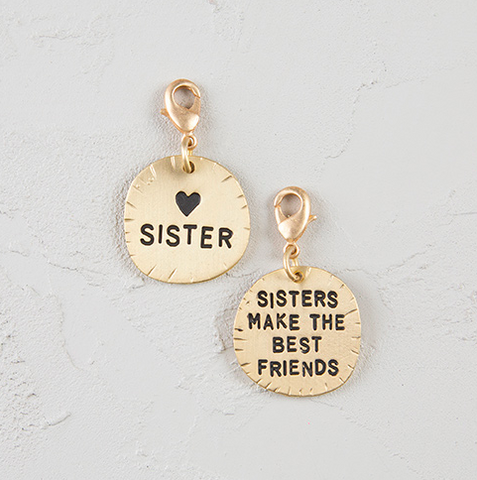 Natural Life Sister Best Friend Junk Market Charm, ACCESSORIES, natural life, Pink Maisy- PinkMaisy Premium Women Clothing Boutique