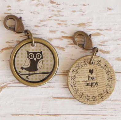 Natural Life Owl Junk Market Vintage Hobby Charm, ACCESSORIES, natural life, Pink Maisy- PinkMaisy Premium Women Clothing Boutique