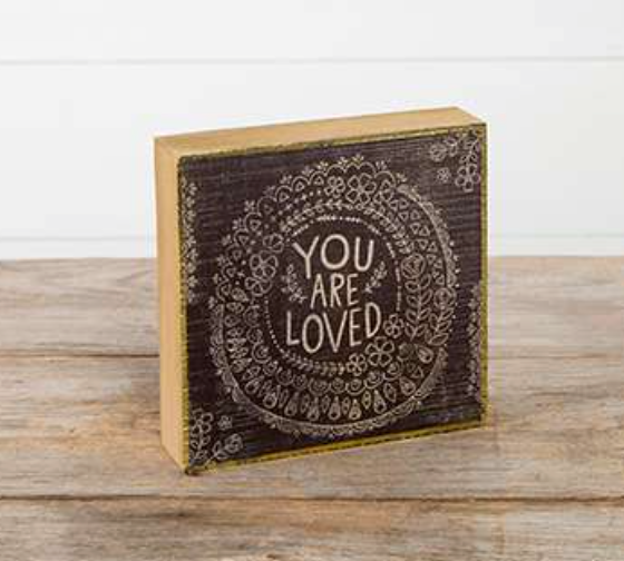 Natural Life You are Loved Bungalow Box Sign, GIFTS, natural life, Pink Maisy- PinkMaisy Premium Women Clothing Boutique