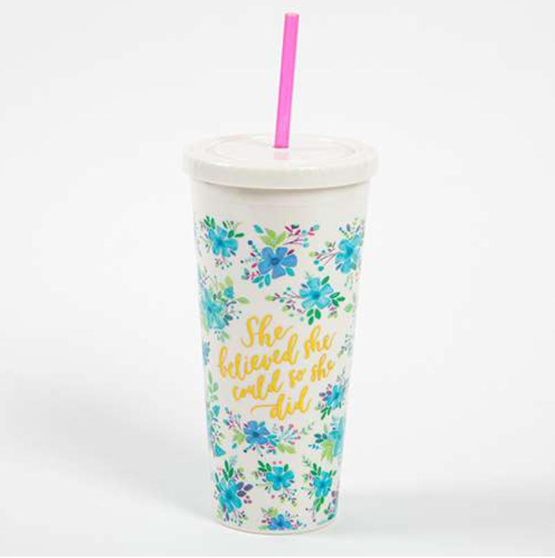 Natural Life She Believed On the Go Cup, GIFTS, Natural Life, Pink Maisy- PinkMaisy Premium Women Clothing Boutique