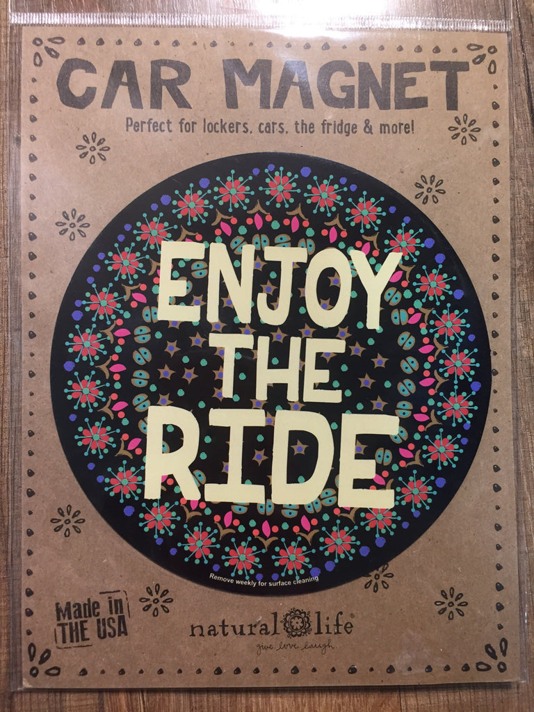"Natural life Car Magnet ""Enjoy The Ride"", GIFTS, natural life, Pink Maisy- PinkMaisy Premium Women Clothing Boutique"