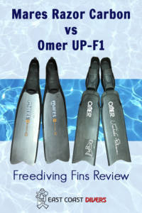 Photo of Mares Razor Carbon and Omer UP-F1 fins
