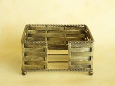 Beverage Napkin Holder - Metal / Square: