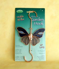 Butterfly Garden Hook / Stained Glass