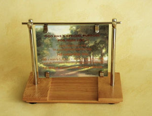 Scripture Print / Card Holder: I WILL PRAISE THEE