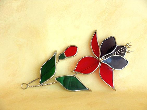 Suncatcher - Fuchsia / Stained Glass