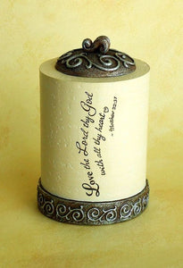 Tealight Holder - Love the Lord / Scripture