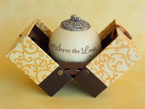 Tealight Holder - Serve The Lord / Scripture