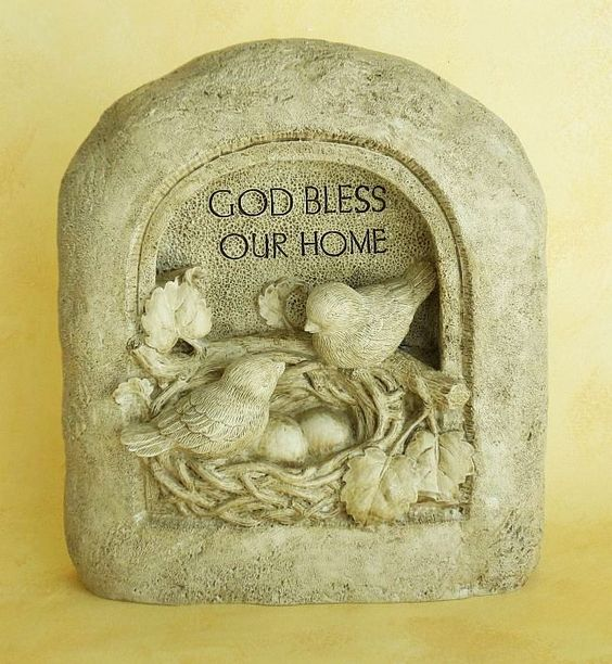 Wall Plaque: God Bless Our Home