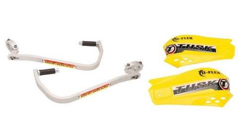 Tusk D-Flex Handguards with MX Shields YELLOW