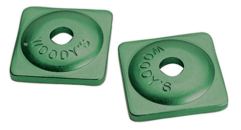WOODY'S 7mm ASW-3730-C GREEN ALUMINUM STUD BACKER SUPPORT PLATE Bag of 144